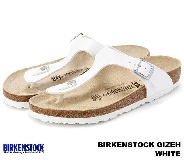 ビルケンシュトック ギゼ メンズ レディース サンダル ホワイト 感謝価格 BIRKENSTOCK White 幅広 Gizeh 043731 大好評です