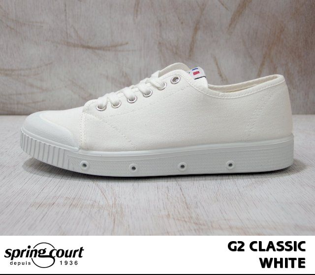 Spring Court G2 classic W canvas low-cut SPRING COURT G2 CLASSIC W-CANVAS LOW CUT white/white 11096230