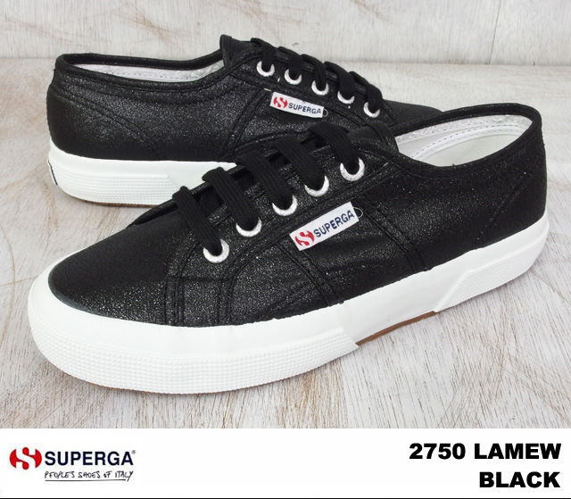 Superga sneakers 2750 ladies black SUPERGA S001820 2750 LAMEW 999 BLACK
