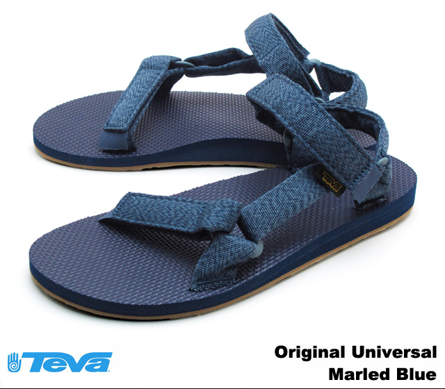 Teva 拖鞋男子原通用結婚二十五年藍 Teva 1004006 原始普遍結婚二十五年藍