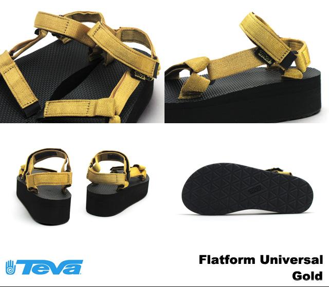 tebasandaruredisuuimenzufurattofomuyunibasarugorudo Teva 1008844 Flatform Universal Gold