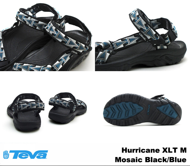 Teva Sandals mens Hurricane XLT mosaic black / blue Teva 4156 Hurricane XLT Mosaic Black/Blue