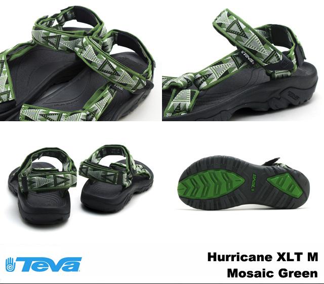 tebasandarumenzuhariken XLT马赛克绿色Teva 4156 Hurricane XLT Mosaic Green