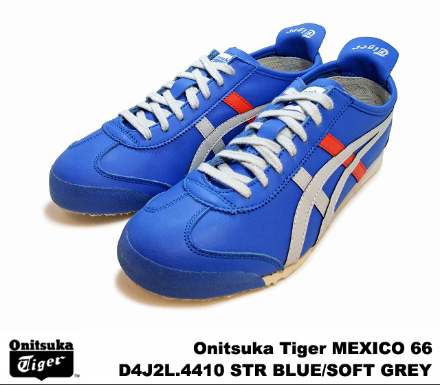 low priced eb8c4 12df2 Onitsuka Tiger Mexico 66 Mexico strong blue soft grey Onitsuka Tiger MEXICO  66 D4J 2L-4410 STRONG BLUE/SOFT GRAY men's women's sneakers