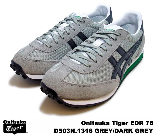 pretty nice 36ec6 42235 Onitsuka Tiger Tweedy are 78 Edie-are light grey dark grey Onitsuka Tiger  EDR 78 D 503ni-1316 LIGHT GREY/DARK GREY mens Womens sneakers