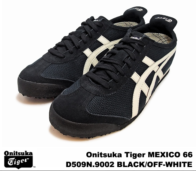 online retailer 543f9 5237f Onitsuka Tiger Mexico 66 Mexico black off white Onitsuka Tiger MEXICO 66 D  509N-9002 BLACK/OFF WHITE mens Womens sneakers