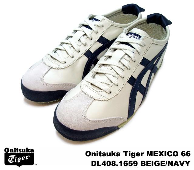 the best attitude de02e 2818f Onitsuka tiger Mexico 66 Mexican beige navy Onitsuka Tiger MEXICO 66 1659  BEIGE/NAVY men gap Dis sneakers