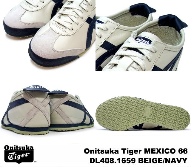 Onitsukatiger Mexico66 Dl408 Damen Beige Navy etTvsfMy