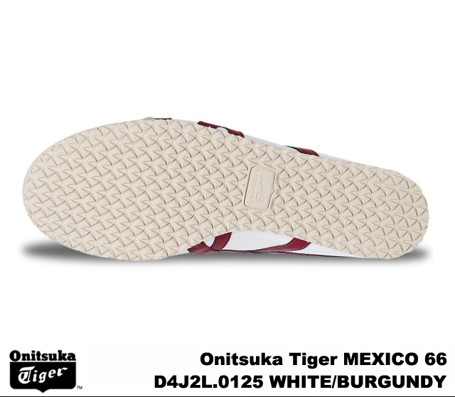 Onitsuka Tiger Mexico 66 Mexico White Burgundy Onitsuka Tiger MEXICO 66 D4J 2L-0125 WHITE/BURGUNDY mens Womens sneakers