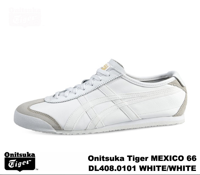 meet 37b22 c384e Onitsuka Tiger Mexico 66 white sneakers mens Womens Mexico Onitsuka Tiger  MEXICO 66 WHITE/WHITE DL408-0101 WHITE