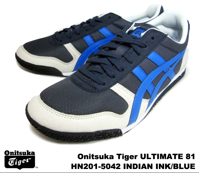 the latest ca7ca bd756 Onitsuka Tiger ultimate 81 ultimate 81 Indian ink blue Onitsuka Tiger  ULTIMATE 81 HN201-5042 INDIAN INK/BLUE mens Womens sneakers