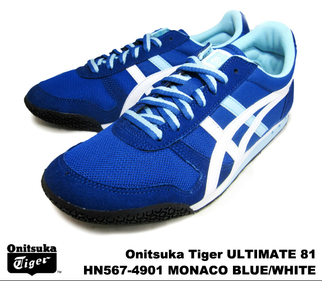 newest 4afe0 1c5a6 Onitsuka Tiger ultimate 81 ultimate 81 Monaco blue white Onitsuka Tiger  ULTIMATE 81 HN567-4901 MONACO BLUE/WHITE mens Womens sneakers