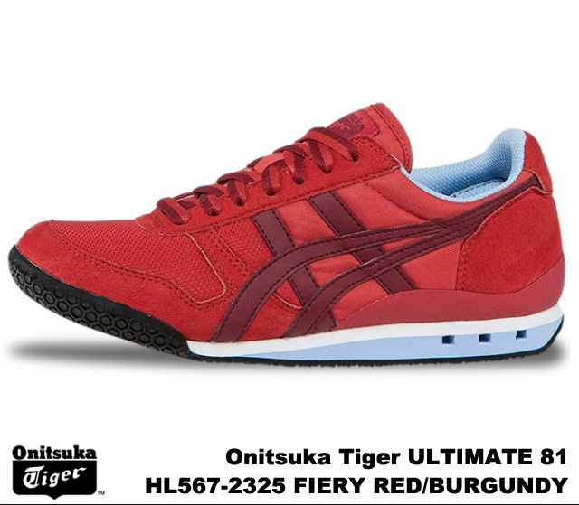 reputable site 641c4 22b53 Onitsuka Tiger ultimate 81 ultimate 81 fire riled Burgundy Onitsuka Tiger  ULTIMATE 81 HL567-2325 FIERY RED/BURGUNDY mens Womens sneakers
