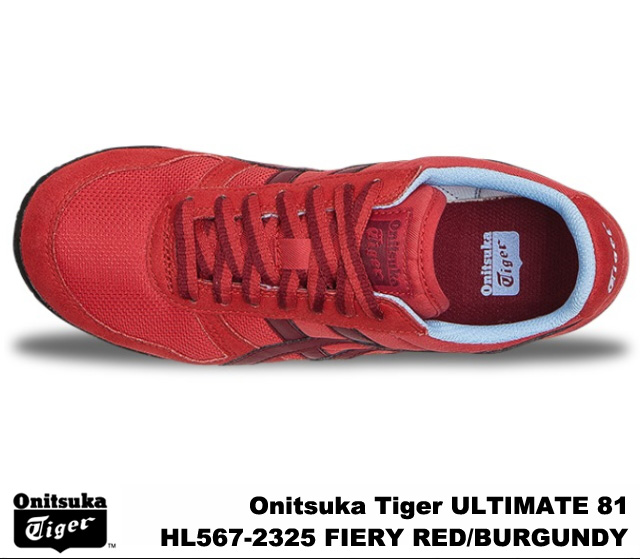Onitsuka Tiger ultimate 81 ultimate 81 fire riled Burgundy Onitsuka Tiger ULTIMATE 81 HL567-2325 FIERY RED/BURGUNDY mens Womens sneakers