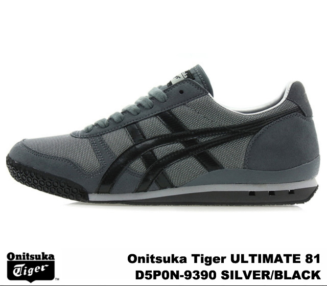 san francisco 6217a 55a42 Onitsuka Tiger ultimate 81 ultimate 81 silver black Onitsuka Tiger ULTIMATE  81 D5P 0N-9390 SILVER/BLACK mens Womens sneakers