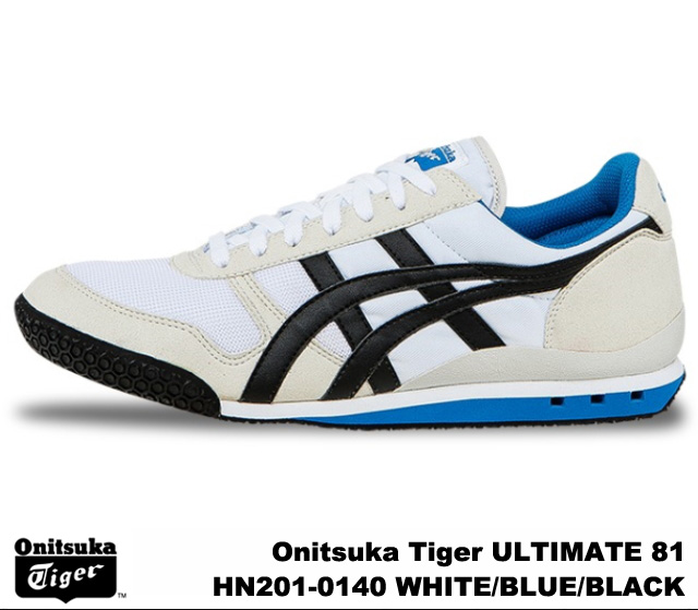 sale retailer de845 d8f43 Onitsuka Tiger ultimate 81 ultimate 81 Onitsuka Tiger ULTIMATE 81  HN201-0140 WHITE/BLUE/BLACK men's women's sneakers, white blue black