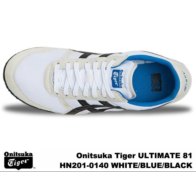 鬼塚虎最終 81 終極 81 鬼塚虎最終 81 HN201 0140 白色,藍色,黑色男式女式運動鞋,白色藍色黑色