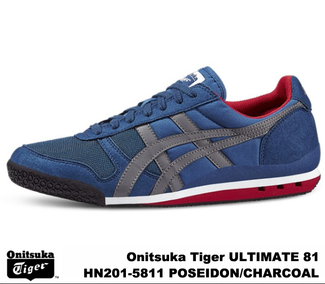 brand new 80567 f55f0 Onitsuka Tiger ultimate 81 ultimate 81 Poseidon charcoal Onitsuka Tiger  ULTIMATE 81 HN201-5811 POSEIDON/CHARCOAL mens Womens sneakers