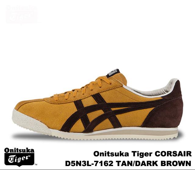 brand new a1982 c2cca Onitsuka Tiger-Tan dark brown Onitsuka Tiger CORSAIR D5N 3L-7162 TAN DARK  BROWN mens Womens sneakers