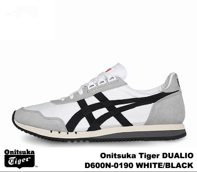 best sneakers 141fc 215f1 Onitsuka Tiger duario white black Onitsuka Tiger DUALIO D 600N-0190 WHITE  BLACK mens Womens sneakers