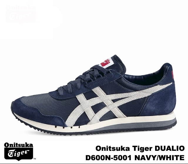 finest selection 36757 57c4f Onitsuka Tiger dually o Navy white Onitsuka Tiger DUALIO D 600N-5001 NAVY  WHITE mens Womens sneakers