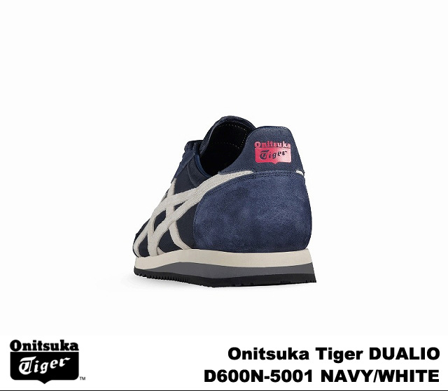 onitsukataigadeyuarioneibihowaito Onitsuka Tiger DUALIO D600N-5001 NAVY WHITE人分歧D運動鞋