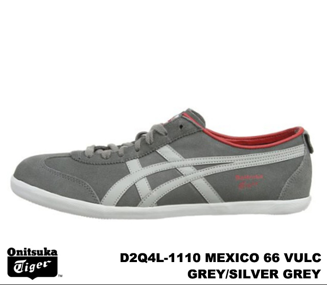 online store 40585 5028e Onitsuka Tiger Mexico 66 Mexico grey silver grey Onitsuka Tiger MEXICO 66  VULC D2Q 4L-1110 GREY/SILVER GREY mens Womens sneakers