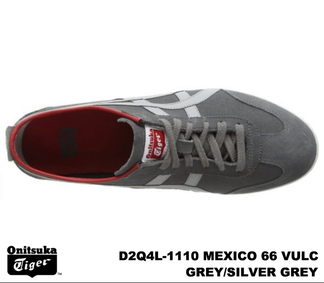 online store 767bb ac922 Onitsuka Tiger Mexico 66 Mexico grey silver grey Onitsuka Tiger MEXICO 66  VULC D2Q 4L-1110 GREY/SILVER GREY mens Womens sneakers