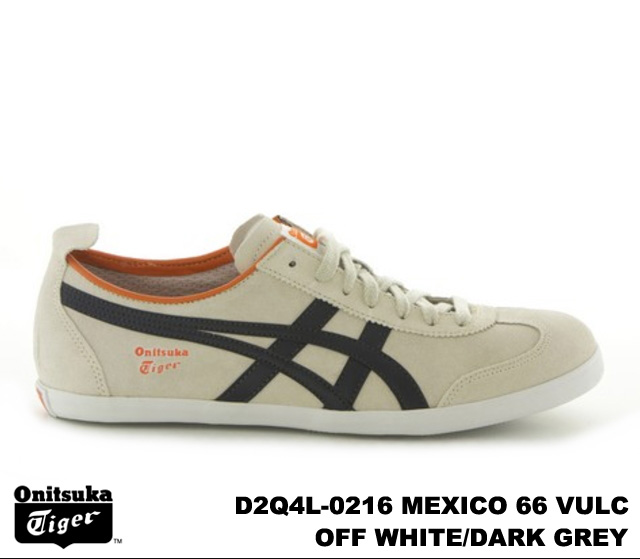 new arrival c0deb e74c4 Onitsuka Tiger Mexico 66 Mexico off white dark grey Onitsuka Tiger MEXICO  66 VULC D2Q 4L-0216 OFF WHITE/DARK GREY mens Womens sneakers