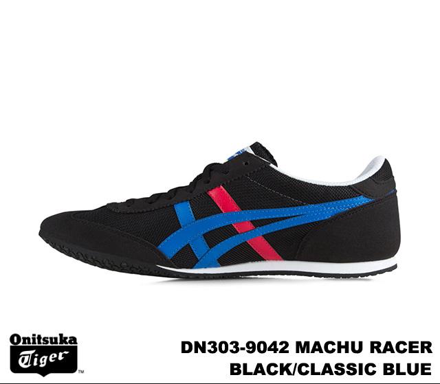 on sale 36b4a 8b0b1 Onitsuka Tiger Machu racer mens Womens sneakers Black Blue Classic Onitsuka  Tiger MACHU RACER DN303-9042 BLACK/CLASSIC BLUE