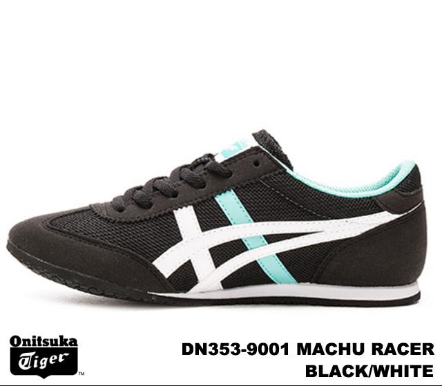 best website 82b6d d86b4 Onitsuka Tiger Machu racer women's sneaker black white Onitsuka Tiger MACHU  RACER DN353-9001 BLACK/WHITE