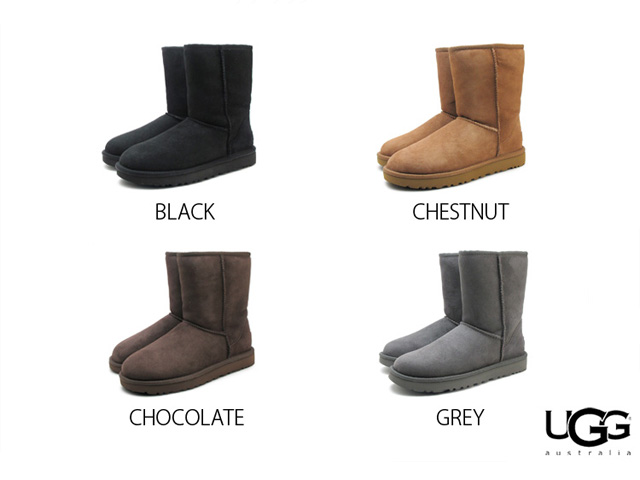 8b8513eeff7 Ugg boots classic short II Black chestnut chocolate grey ladies Sheepskin  boots Sheepskin UGG Australia 1016223 WOMENS CLASSIC SHORT 2 BLACK CHESTNUT  ...