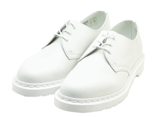 ドクターマーチン 3ホール ギブソン メンズ シューズ ホワイト Dr.Martens 1461 3EYE GIBSON SHOE 14346100 MONO WHITE