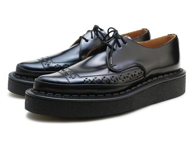 ジョージコックス ラバーソール ブラック レザー メンズ 靴 シューズ イギリス製 GEORGE COX 3705V M/G GIBSON BLACK MADE IN ENGLAND