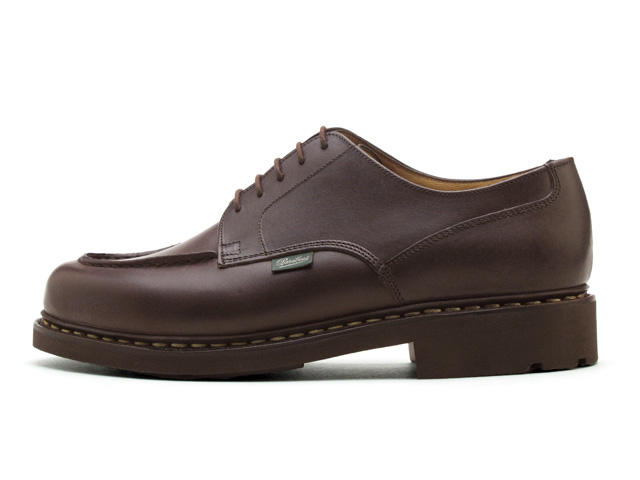 Paraboot Chambord Cafe Brown U tip men's shoes made in France Paraboot Chambord 710707 Cafe Dark Brown MADE IN FRANCE