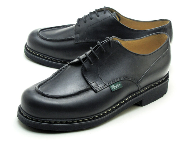 法国 Paraboot 香波堡 710709 黑色黑做出在法国制造的 Paraboot 尚博尔 Noir 黑色 U 尖男鞋