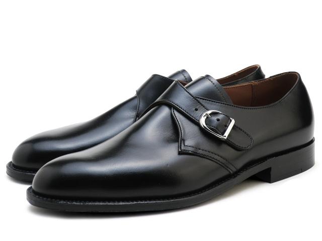 オールデン モンクストラップ ALDEN 955 ブラック プレーントゥ Dワイズ メンズ シューズ ビジネス ドレス 靴 アメリカ製 MONK STRAP MADE IN USA