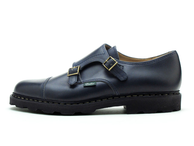 Paraboot William double monks trap Navy Nuits shoes made in France Paraboot William 981409 Navy Nuit MADE IN FRANCE