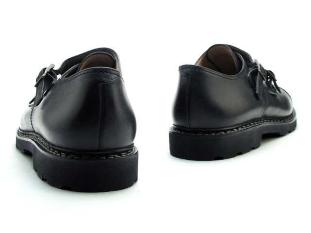 Paraboot William double monks strap black Noir shoes made in France Paraboot William 981412 Black Noir MADE IN FRANCE