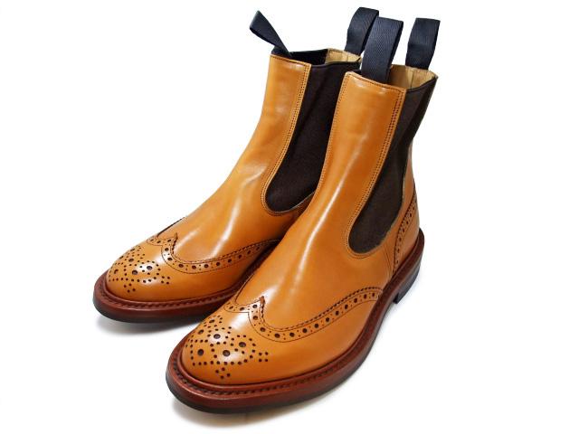 トリッカーズ カントリーブーツ サイドゴア エイコンアンティーク ウィングチップ レディース ブーツ サイドゴアブーツ Tricker's L2754 Henry Elastic Brogue Boot Acorn Antique