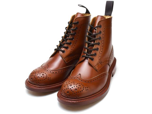 トリッカーズ カントリーブーツ レディース ウィングチップ マロンアンティーク ダブルレザーソール Tricker's Stephy L5676 Ladies Marron Antique Brogue Double Leather Sole