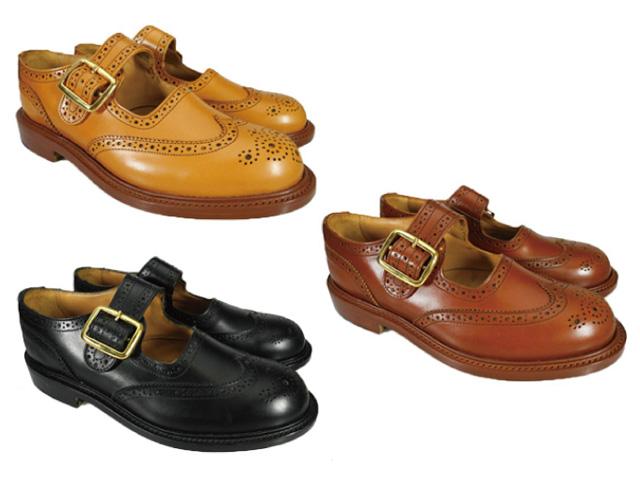トリッカーズ バックル ブローグシューズ ダブルレザーソール Tricker's L6011 BUCKLE BROGUES SHOES Double Leather Sole