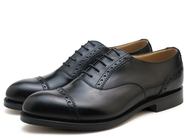 チャーチ 靴 シャビントン ブラック メンズ ビジネス シューズ Church's Shavington ストレートチップ プレーントゥシューズ MADE IN ENGLAND