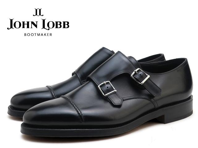 ジョンロブ ウィリアム2 ブラック ダブルモンクストラップシューズ ダブルレザーソール イギリス製 メンズ ビジネス ドレス JOHN LOBB WILLIAM2 BLACK DOUBLE MONK STRAP SHOES MADE IN ENGLAND