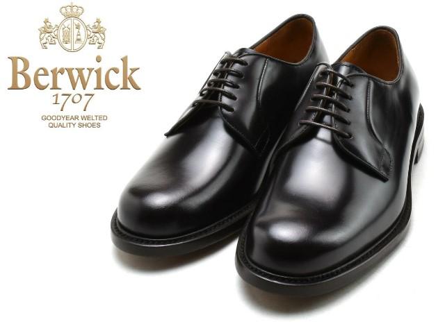バーウィック プレーントゥ BERWICK 3680 マロン K3 高額売筋 メンズ ビジネス 期間限定の激安セール