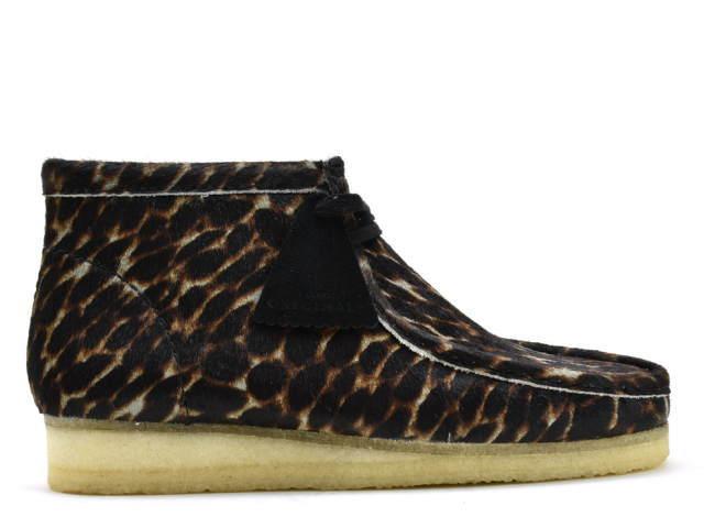 クラークス ワラビーブーツ CLARKS WALLABEE BOOT 26146759 ブラック アニマルプリント US規格 メンズ ブーツ men's boots