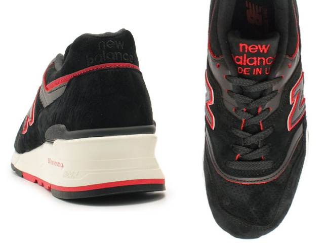 新平衡 997 黑色紅色男式運動鞋新平衡 M997 DEXP newbalance M997DEXP 黑色紅色取得在美國