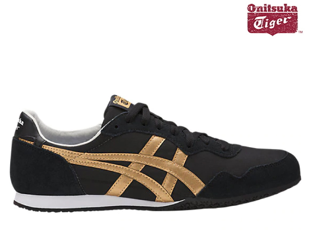 newest collection dee6b 00f40 Onitsuka tiger seller knob rack / gold men gap Dis sneakers Onitsuka Tiger  SERRANO 9094 BLACK/GOLD