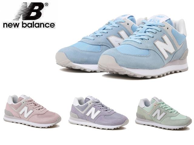 New Balance 574 pastel blue pastel green pastel pink pastel purple Lady's sneakers shoes new balance WL574 ESB ESM ESP ESV newbalance WL574ESB
