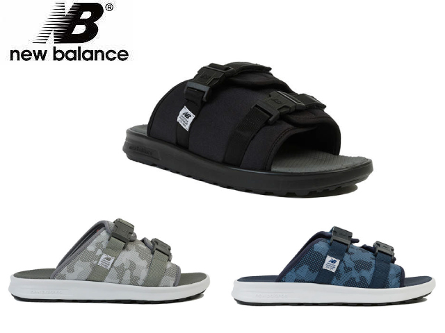 site réputé ecd7a 1384f New Balance 330 lady's men's SDL330 BK GR NB black gray navy camouflage  sandals newbalance